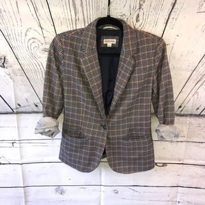 Merona Plaid Blazer with Pockets